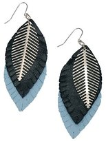 Urban Outfitters Leather Feather Earrings