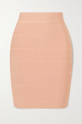 Herve Leger Bandage Mini Skirt - Cream