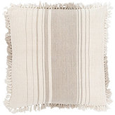 Pine Cone Hill Harbour Fringed Striped Linen & Jute Oversized Square Pillow