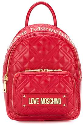 Love Moschino Logo Plaque-Embellished Backpack