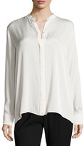 Vince Flyaway-Back Stretch-Silk Blouse