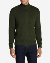 Eddie Bauer Men's Signature Cotton Full-Zip Mock Sweater