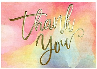 Peter Pauper Press WATERCOLOR SUNSET THANK YOU NOTES Set of 14