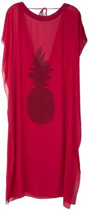 BRIGITTE maxi pineapple print dress