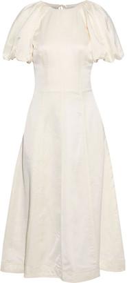 Rebecca Vallance Aimee Open-back Sateen Midi Dress