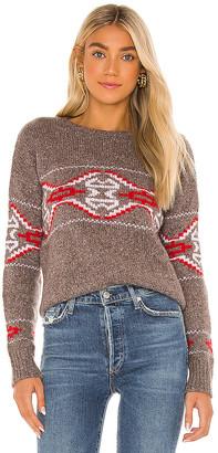 Autumn Cashmere Tribal Jacquard Crew Sweater