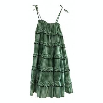 Innika Choo Green Cotton Dress for Women