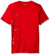 Calvin Klein Jeans Men's Short Sleeve Distressed Foil Logo Crew Neck T-Shirt