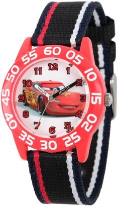 EWatchFactory Disney Cars Boys' Red Plastic Time Teacher Watch