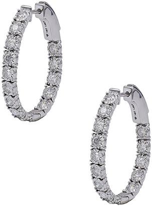 Diana M Fine Jewelry 14K 1.01 Ct. Tw. Diamond Hoops
