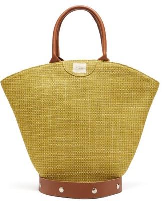 Gabriel For Sach - Tulip Medium Raffia Tote Bag - Yellow