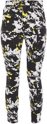 Alice + Olivia Printed High-rise Skinny Jeans
