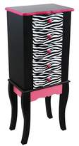 Teamson Kids Jewelry Armoire Wood/Zebra