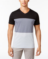 Alfani Men's Stretch V-Neck Colorblocked T-Shirt, Created for Macy's