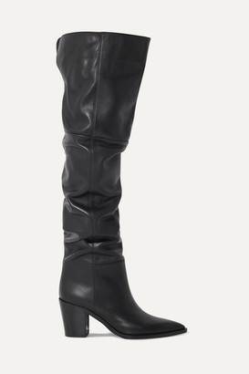Gianvito Rossi 80 Leather Over-the-knee Boots - Black