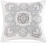 "Echo Larissa Embroidered Cotton 18"" X 18"" Decorative Pillow"