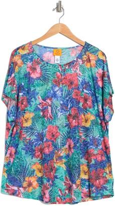 Ruby Rd Summer Botanical Embellished Top