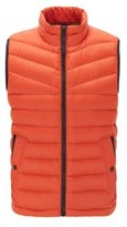 HUGO BOSS - Down Filled Gilet With Water Repellent Outer - Dark Blue