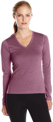 Soffe Women's Performance V-Neck Longsleeve Tee