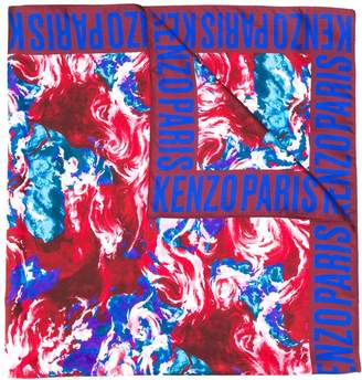Kenzo floral print square scarf