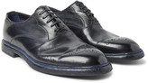 Dolce & Gabbana - Marsala Polished-leather Oxford Brogues