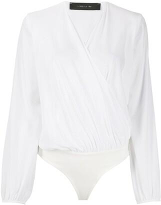 FEDERICA TOSI Wrap Bodysuit Blouse