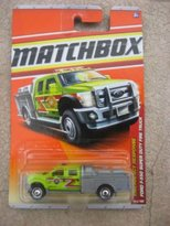 Matchbox 2011 Emergency Response 50 of 100 Ford F-550 Super Duty Fire Truck (Green/Gray)