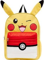 "Pokemon Pikachu 16"" Backpack W/ Puffed Pocket"
