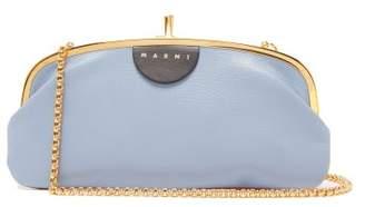 Marni Colour-block Leather Cross-body Bag - Womens - Blue Multi