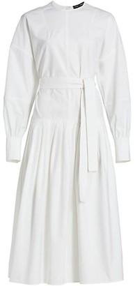 Proenza Schouler Cotton Belted Midi Dress