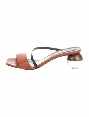 Neous Gia Leather Slide Sandals black