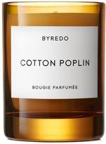 Byredo Cotton Poplin fragranced 2016 holiday candle 240g