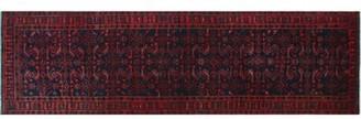 """Bloomsbury Market One-of-a-Kind Sadik Handmade Kilim Runner 3'5"""" x 12'5"""" Wool Red/Pink Area Rug"""