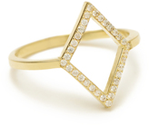 MINED 14k Gold & Pave Open Diamond Ring, Assorted Colors
