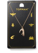 Topman Gold Shrimp Necklace*