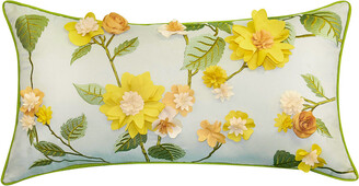 Edie@Home Dimensional Indoor & Outdoor Delightful Dahlia Lumbar Pillow
