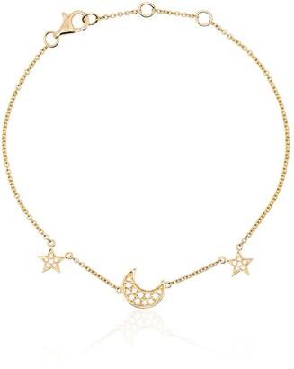 Rosa de la Cruz 18kt Yellow Gold Diamond Charm Bracelet
