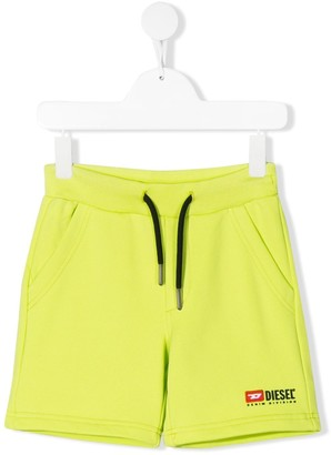Diesel Logo Embroidered Track Shorts