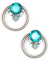 Sorrelli Peony Crystal Hoop Earrings