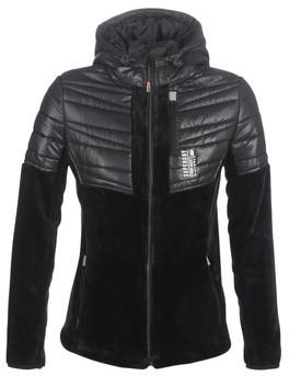 Superdry STORM PANEL HYBRID women's Fleece jacket in Black