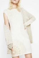 Desigual Ivory Cap Sleeved Dress