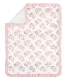 The Peanut Shell The Grace Floral Baby Blanket Bedding