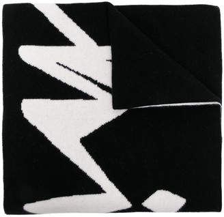 Off-White Intarsia-Knit Logo Scarf