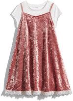 Nowadays Megan & Liz Tween Velvet Slip Dress and T-Shirt Set, Big Girls (7-16) & Juniors (1-5)