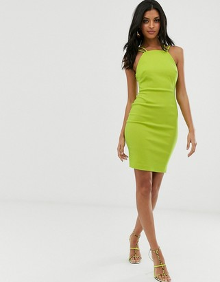 Vesper strap detail bodycon dress