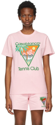 Casablanca Pink Tennis Club T-Shirt