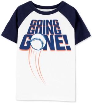 Carter's Little & Big Boys Baseball-Print Cotton T-Shirt