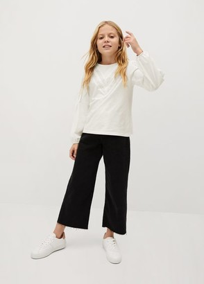 MANGO Openwork long sleeve t-shirt white - 5 - Kids