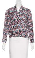 T-Bags LosAngeles Tbags Los Angeles Floral Surplice Neck Blouse