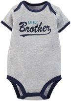 Carter's Slogan Bodysuit (Baby) - Heather-Newborn